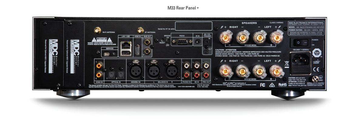 NAD-M33-amplifier-rear